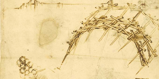 web3 leonardo davinci self supporting bridge sketch invention public domain